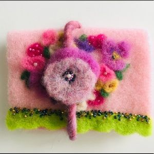 Handbags - Felt Handmade little purse